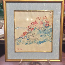 Signed Childe Hassam Watercolor – Poppies – Isles of Shoals