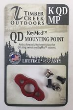 TIMBER CREEK - KeyMod - QUICK DETACH MOUNTING POINT - RED - MADE IN USA