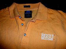 BGSU Bowling Green State University Falcons Light Orange Polo Rugby Shirt Medium