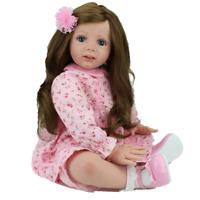 "24"" Toddler Reborn Baby Dolls Handmade  Vinyl  Long hair Baby Doll Xmas Gifts"
