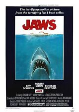 Jaws - Steven Spielberg - Roy Scheider - A4 Laminated Mini Movie Poster