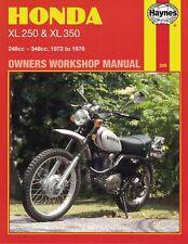 Haynes Manual For Honda XL250 & XL350 1972-1976 Trial Bikes