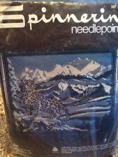 Spinnerin long stitch & petit point needlepoint kit TIBET leopard mountains
