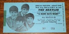 The Beatles (A Hard Days Night) Orig,1964 Special Movie Premiere Ticket Preview