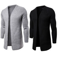 men's jackets Long cloak cardigan coat sweater men's outwear knitted sweaters