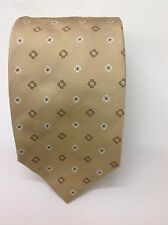 NWT. PAL ZILERI BEIGE AND BROWN  WOVEN SILK TIE