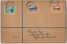 59572  - TRINIDAD & TOBAGO  - POSTAL HISTORY: REGISTERED COVER to GB - 1938
