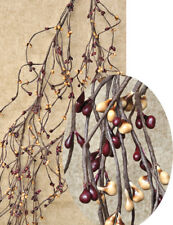 "Pip Berry Wispy Garland in Burgundy & Old Gold - 60"", 5', 5 ft"