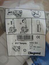 Legrand 055553 Surface mounting socket P17 Tempra IP44 200/250V~ LV 16A 2P+E New