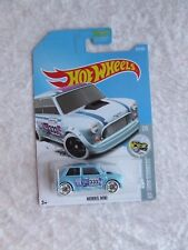 MORRIS AUSTIN MINI IN LT BLUE HW SNOW STORMERS HOT WHEELS MINT IN BOX LONG CARD