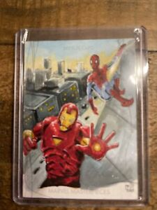 2020 Upper Deck Marvel Masterpieces Sketch Cards  Theresa Ysiano Auto Spiderman