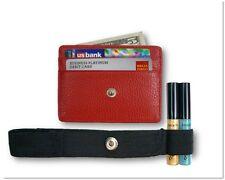 Hidden Wallet - RFID Blocking, Travel Wallet, Secure Money Holder Strap - Red