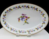 "NORITAKE JAPAN OAKWOOD BLUE ACORNS MEDIUM 12 1/8"" OVAL SERVING PLATTER 1950-1951"