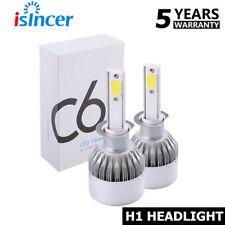 2x H1 38800LM COB LED Headlight Kit High Beam Bulbs 6000K High Watt iSincer ky