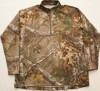 GAME WINNER Camo 1/4 Zip Mens Realtree Xtra Hunting Pullover jacket, Size Large