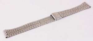 Vintage 18mm Stainless Steel Gents Watch Strap (X52)
