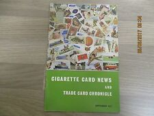September 1977, CIGARETTE CARD NEWS, George Cheshire, Lighthouses, Football.