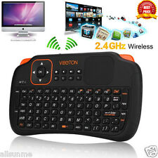 For Smart TV Box PC Laptop Tablet 2.4Ghz Wireless Keyboard Touchpad Mouse Mice