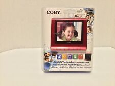 NEW SEALED COBY DP356 RED DIGITAL PHOTO / MP3 PLAYER/ CLOCK / CALENDER ALBUM
