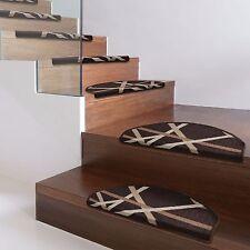Stufenmatten printed günstiger Treppenschutz im 15er-Set Treppenmatten Braun