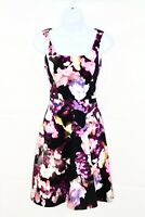 KAREN MILLEN Multi Coloured Floral Fit & Flare Special Occasion Skater Dress Uk6