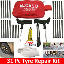 31Pcs Tire Puncture Repair Kit Tool Emergency Car, Van, Motorcycle for Tubeless