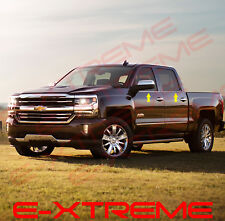 For 2014~2017 Chevy Silverado 1500 Crew Cab STAINLESS STEEL WINDOW SILL