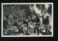 East Africa native girls collecting water Kenya? c1920/30s? nice RP PPC