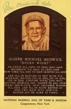 Joe Medwick Signed Baseball HOF Yellow Plaque Postcard with JSA COA