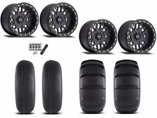 "Method 406 Beadlock 14"" Wheels Rims Black 29"" EFX Sand Slinger Tires Turbo 1000"