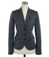 $240 J.Crew Charcoal Gray Three Button Jacket In Pinstripe Super 120S Wool 2P