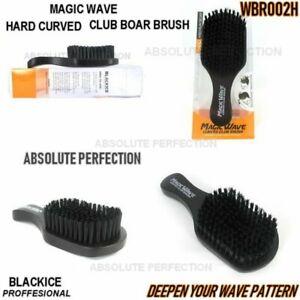 Magic Wave Curved Club Brush Premium Boar Bristles Deepen Wave Pattern WBR002H