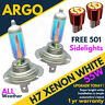 H7 55w Super Weather White Xenon 499 Car Headlight Bulbs 12v Cree Led Sidelights