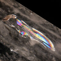 266g123mm Natural Rainbow Clear Quartz Crystal Point/Tower Healing Chakra Decor