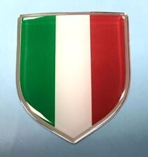 ITALIAN FLAG Shield Sticker 59mm - WITH HIGH GLOSS DOMED GEL FINISH - ITALY