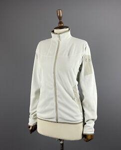 Women ARCTERYX White Full Zip Fleece Jacket Hoodie Size M