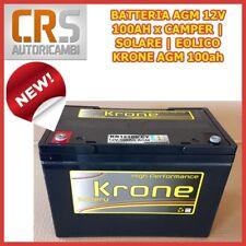 Batteria AGM 100Ah KRONE 12V EOLICO CAMPER SOLARE FOTOVOLTAICO SCARICA LENTA
