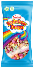 Rainbow Drops -  Birthday Party Sweets Rice Flavoured Candy Treat - 4 x 80g Pack