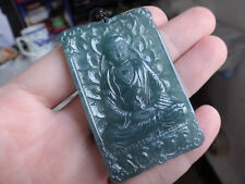 Natural Genuine A Jadeite Jade Blue Green Buddha Pendant