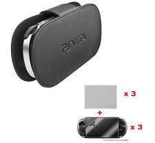 Official Sony PS VITA Black Hard Case Pouch Sleeve Cover + 3 x Screen Protector!