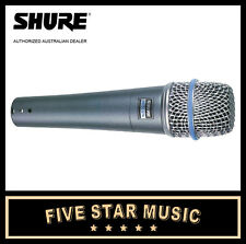 SHURE BETA57A DYNAMIC MICROPHONE MIC BETA 57 NEW w' BAG & CLIP AUTHORISED DEALER