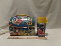 "RARE VINTAGE 1963 ""THE JETSON'S "" DOMED METAL LUNCH BOX WITH MATCHING THERMOS BY"