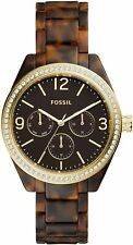 Fossil Men's Caleigh BQ3344 40mm Brown Dial Plastic Watch