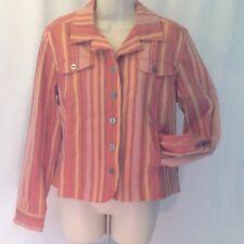 CHRISTOPHER & BANKS  Women's Jacket  Large Pink Orange Large
