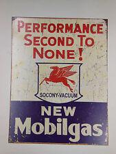 "MOBIL GAS Metal SIGN Mobilgas SOCONY VACUUM  12 1/2""x16"" f/ Shop or Man Cave"