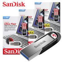 SanDisk Ultra Flair 16GB 32GB 64GB USB Flash Pen thumb Drive High Speed 150MB