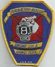 "Dekalb County  Engine-8, GA  ""Dawg Tuff""  (4"" x 4.75"" size)  fire patch"