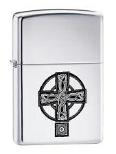 ZIPPO CELTIC CROSS 20850 Accendino Collezionismo Lighter Croce Celtica Cromo