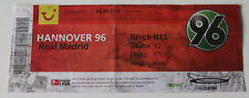 OLD TICKET Hannover 96 Germany Real Madrid Spain