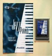 Alesis Stereo Jazz Piano QCard w/Booklet, Case, LIFETIME Warranty QSR Card Rare